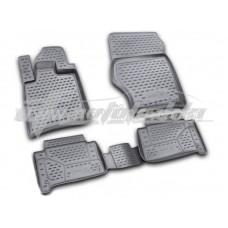 Резиновые коврики в салон на Audi Q7 2006-2015 Novline (Element)