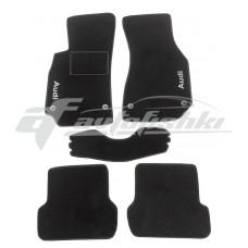 Коврики ворсовые в салон для Audi A4 2000-2008 черные, Украина