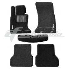 Коврики текстильные в салон для BMW 5 E60 / E61 2003-2010 черные, Польша