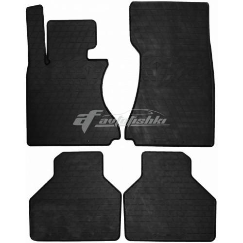 на фотографии резиновые коврики в салон для BMW 7 E65 2002-2008 года черного цвета от Stingray