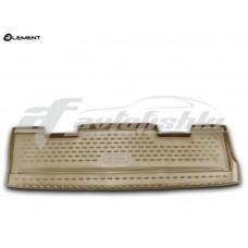 Резиновый коврик в багажник на Cadillac Escalade III 2007-2013 бежевый Novline (Element)