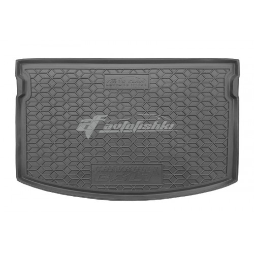 на фотографии резино-пластиковый коврик в багажник для Chevrolet Bolt верхняя полка с 2016 года от Avto-Gumm