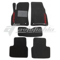 Коврики ворсовые в салон для Chevrolet Malibu 2011-2016 черные, Украина
