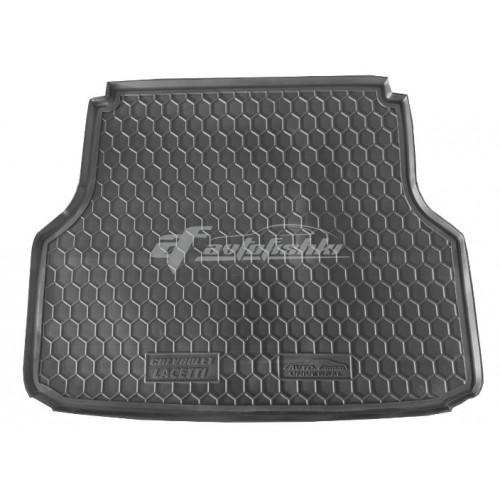 на фотографии резиновый коврик в багажник для Chevrolet Lacetti Wagon с 2003 года в кузове универсал от украинского производителя Avto-Gumm