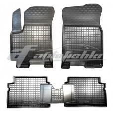 Резиновые коврики в салон для Chevrolet Aveo 2002-2011 Avto-Gumm