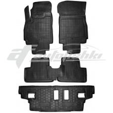 Резиновые коврики в салон для Chevrolet Orlando (7 мест) (3 ряда) 2010-... Avto-Gumm