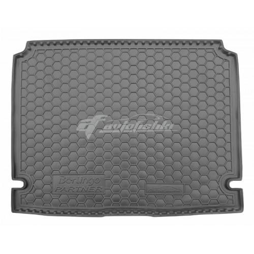 на фотографии резиновый коврик в багажник для Peugeot Partner 2008-2019 года от Avto-Gumm