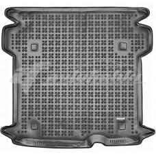 Коврик в багажник резиновый для Fiat Doblo II Maxi (5 мест) 2010-... Rezaw-Plast