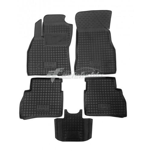На фотографии резиновые коврики в салон для Fiat Doblo с 2015 года черного цвета от Avto-Gumm