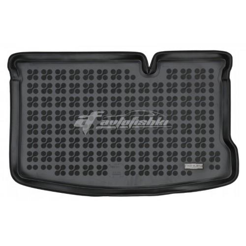 на фотографии коврик в багажник резиновый для Ford Ka III (Ka+) Hatchback с 2016 года черного цвета от Rezaw-Plast