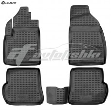 Резиновые коврики в салон на Ford Fusion 2002-2012 Novline (Element)