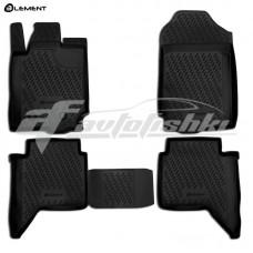 Резиновые коврики в салон на Ford Ranger T6 2011-2020 Novline (Element)
