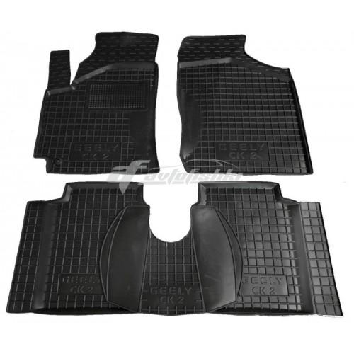 на фотографии резиновые коврики в салон для Geely CK 2006-2016 года черного цвета от Avto-Gumm