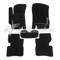 Коврики ворсовые в салон для Hyundai Accent 2006-2011 черные, Украина