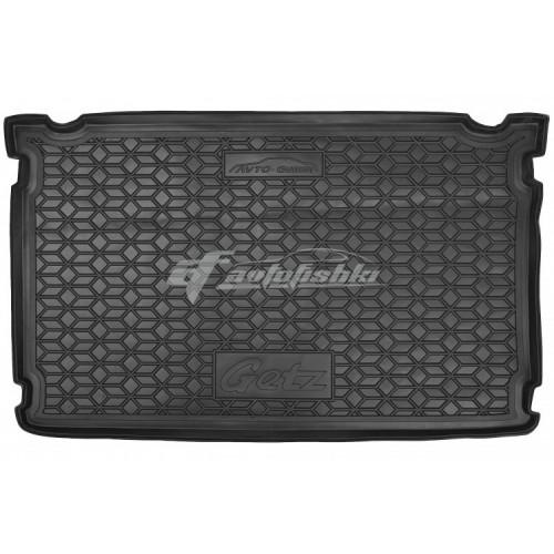 на фотографии резино-пластиковый коврик в багажник для Hyundai Getz 2002-2011 года от украинского производителя Avto-Gumm