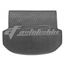 Резиновый коврик в багажник для Hyundai Santa Fe III (5 мест) 2012-2018 Avto-Gumm
