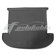 Резиновый коврик в багажник для Hyundai Santa Fe (7 мест) 2018-... Avto-Gumm
