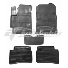 Резиновые коврики в салон для Hyundai Accent 2006-2011 Avto-Gumm