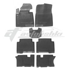 Резиновые коврики в салон для Hyundai Grand Santa Fe III (3 ряда) 2012-2018 Avto-Gumm