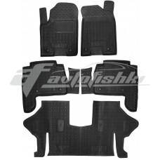 Резиновые коврики в салон для Infiniti QX56 / QX80 (3 ряда) 2010-... Avto-Gumm