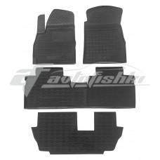 Резиновые коврики в салон для Jetour X70 (3 ряда) (7 мест) 2020-... Avto-Gumm