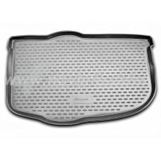 Резиновый коврик в багажник на Kia Soul (нижний) 2008-2014 Novline