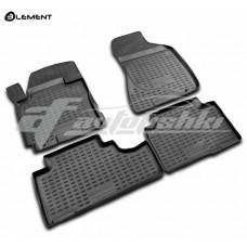 Резиновые коврики в салон на Kia Sportage II 2004-2010 Novline (Element)
