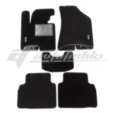 Коврики текстильные в салон для Kia Sportage III 2010-2016 черные, Польша