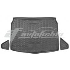 Резиновый коврик в багажник для Kia Ceed Hatchback 2018-... (нижняя полка) Avto-Gumm