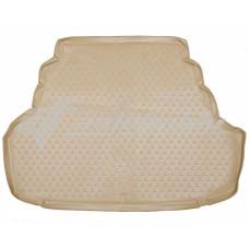 Резиновый коврик в багажник на Lexus ES 350 2006-2012 бежевый, Novline
