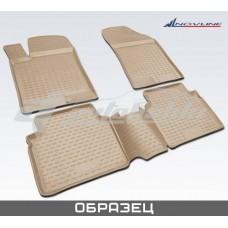 Резиновые коврики в салон на Lexus ES 350 (бежевые) 2006-2012 Novline (Element)