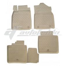 Резиновые коврики в салон на Lexus ES 250/350/300h (бежевые) 2012-2019 Novline (Element)