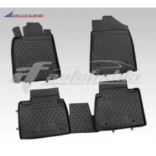 Резиновые коврики в салон на Lexus ES 350 (черные) 2006-2012 Novline (Element)