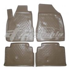 Резиновые коврики в салон на Lexus RX 300/330/350/400h (бежевые) 2003-2009 Novline (Element)
