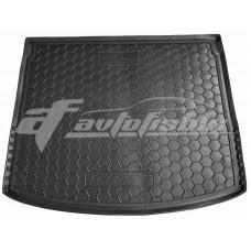 Резиновый коврик в багажник для Mazda 3 III Hatchback (хэтчбек) 2013-2019 Avto-Gumm