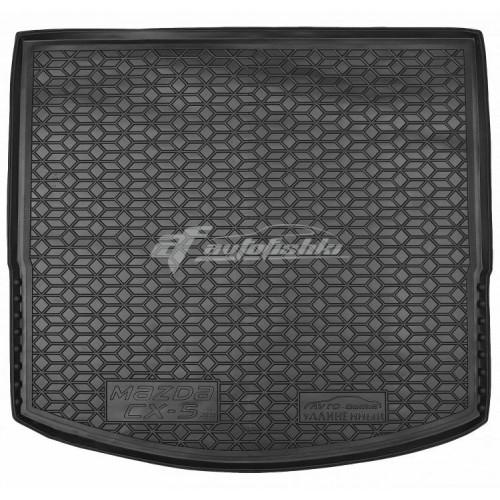 на фотографии резино-пластиковый коврик в багажник для Mazda CX-5 USA (америка) 2012-2017 года от украинского производителя Avto-Gumm
