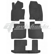 Резиновые коврики в салон Mazda CX-9 II (3 ряда) 2016-... Stingray