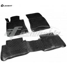 Резиновые коврики в салон на Mercedes E-Class W211 2WD (задний привод) 2002-2009 Novline (Element)