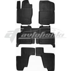 Резиновые коврики в салон для Mercedes GLS X166 2015-2018 (3 ряда) (7 мест) Avto-Gumm