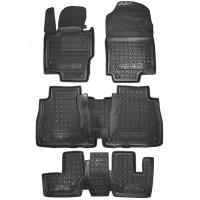 Резиновые коврики в салон для Mercedes GLS-Class II X167 (7 мест) (3 ряда) 2019-... Avto-Gumm