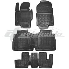 Гумові килимки в салон для Mercedes GLS-Class II X167 (7 місць) (3 ряди) 2019-... Avto-Gumm
