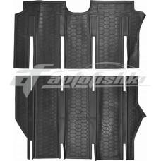 Резиновые коврики в салон для Mercedes Viano (long) (2-й и 3-й ряд) 2007-... Avto-Gumm