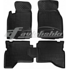 Резиновые коврики в салон для Mitsubishi Pajero Sport I 1998-2008 Avto-Gumm