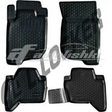 Резиновые коврики на Mitsubishi L200 2006-2015 Lada Locker