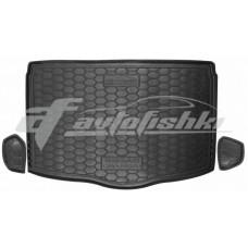 Резиновый коврик в багажник для Nissan Qashqai II (нижний) 2017-… Avto-Gumm
