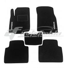 Коврики ворсовые в салон для Nissan Rogue II 2014-... черные, Украина