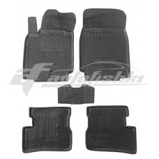 Резиновые коврики в салон для Nissan Micra K12 2003-2010 Avto-Gumm