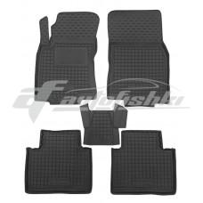 Резиновые коврики в салон для Nissan Rogue II 2014-... Avto-Gumm