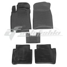 Резиновые коврики в салон для Nissan Tiida 2004-... Avto-Gumm