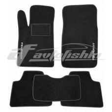 Коврики ворсовые в салон для Peugeot 607 1999-2010 черные, Украина